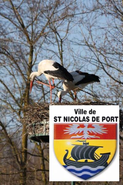 Couple de cignogne blason  St-Nicolas de port