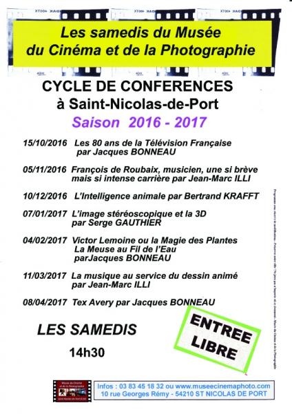 programme conférences 2016-2017
