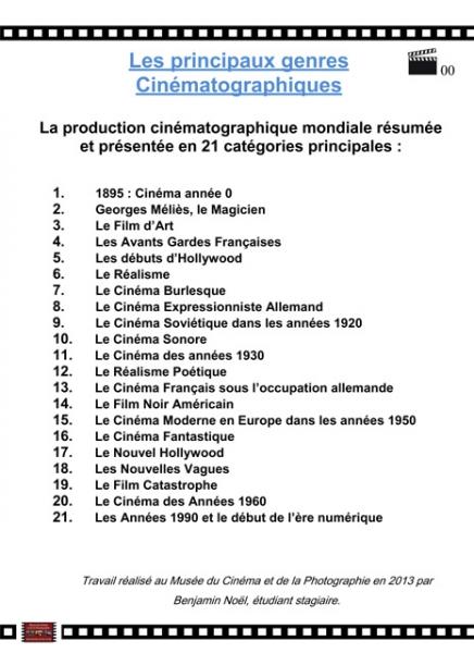 différents genres cinématographiques